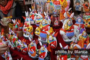 colorful souvenirs sold at Dongyue Temple Fair
