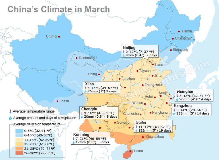 Clima china en marzotiempo chino en marzo viaje a china china march climate map gumiabroncs Image collections
