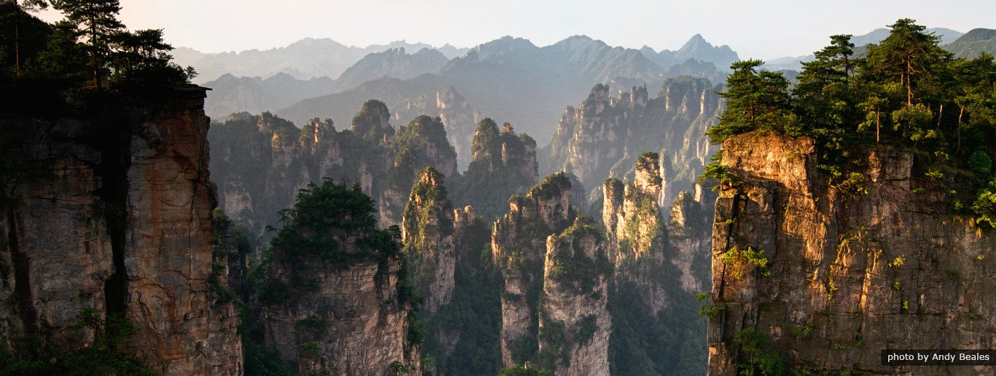 The beautiful peaks in Zhangjiajie